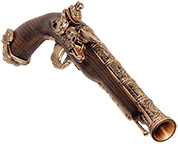 HFC FLINT LOCK PISTOL GOLD